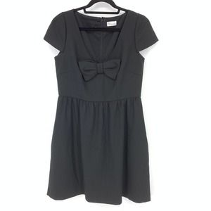 Red Valentino Sz 46 US 8 Black Mini Dress